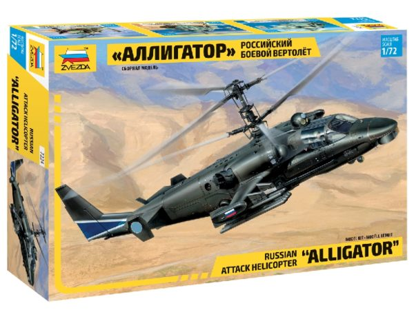 "ZVEZDA 7224 Kamov   Ka-52 ""Alligator"" Combat Helicopt Modellismo"