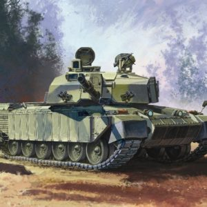 DRAGON 7287 Challenger 2 W/Bar Armour Modellismo