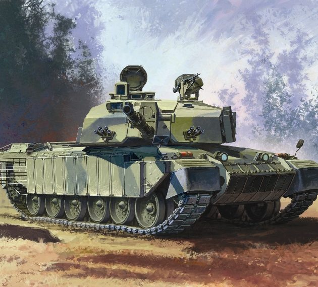 DRAGON 7287 Challenger 2 W/Bar Armour Modellismo