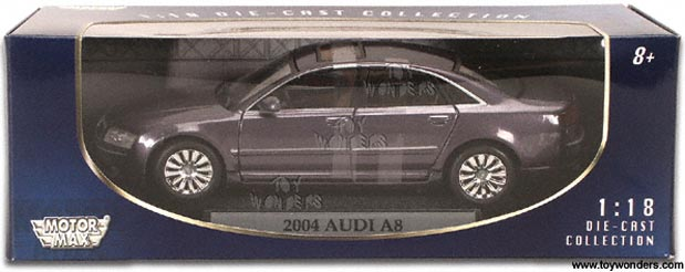 Motormax 73149BU 1:18 Audi A8 met.blu Modellismo