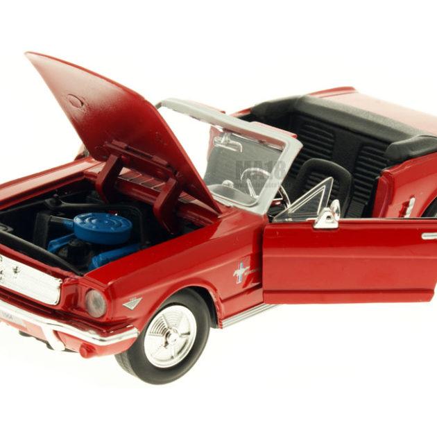MotorMax 73212RD 1964 1/2 Ford Mustang rossa Modellismo