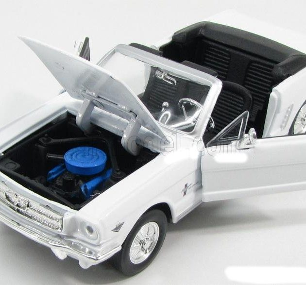 MotorMax 73212WH 1964 1/2 Ford Mustang bianco Modellismo
