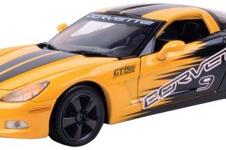 Motormax 73774YL 1:24 GT Racing Corvette C6 Modellismo