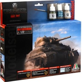 Italeri 74002 WORLD OF TANKS M4A1 SHERMAN