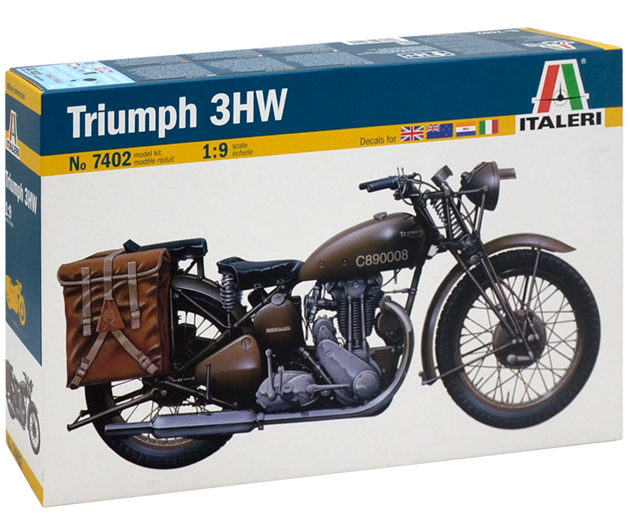 ITALERI 7402 TRIUMPH 3HW include decal per 4 versioni