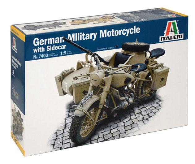 ITALERI 7403 BMW R75 German Military Motor w/Sidecar
