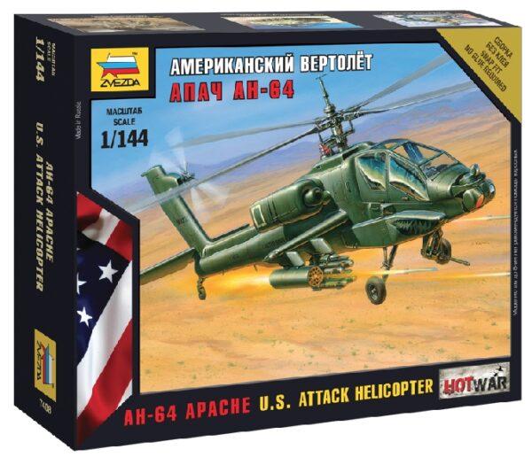 ZVEZDA 7408 Apache Helicopter Modellismo