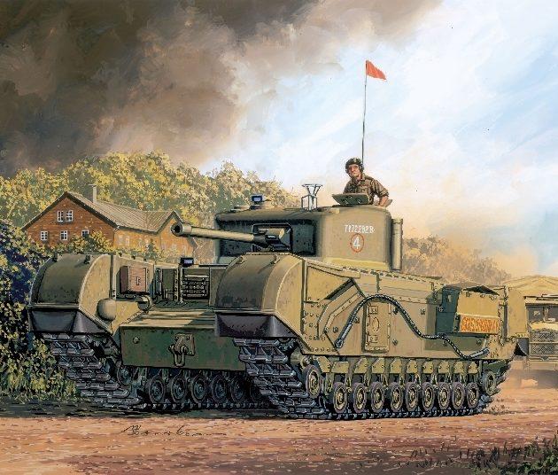 DRAGON 7424 British Churchill Mk.Iv Modellismo