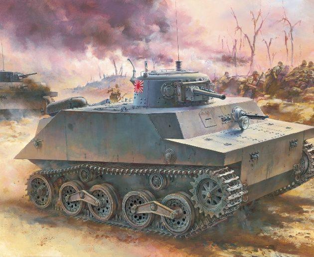 DRAGON 7435 Ijn Type 2 (Ka-Mi) Amphibious Tank Combat Modellismo