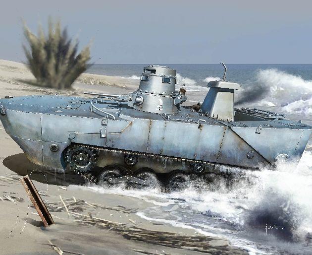 """DRAGON 7485 Ijn Type 2 Amphibious Tank """"Ka-Mi"""" W/Floa Modellismo"""