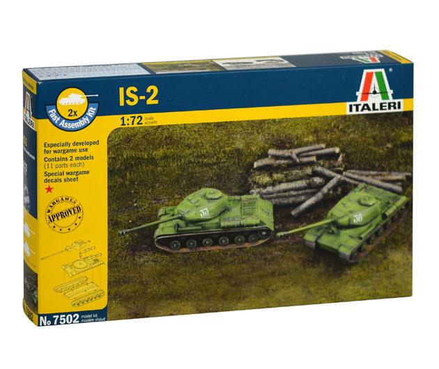 Italeri 7502 JS-2 STALIN  (FAST ASSEMBLY) 2PCS Modellismo
