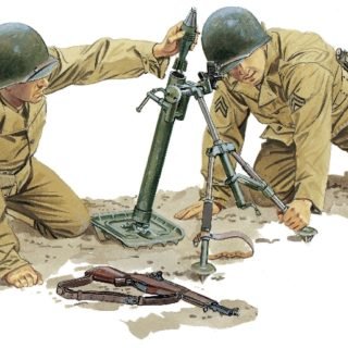 DRAGON 75024 Us M2 Mortar & M1 Garand Rifle Modellismo