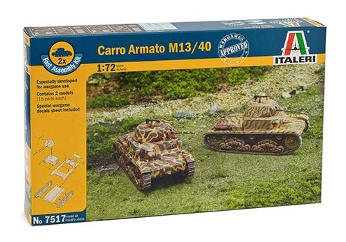 ITALERI 7517 Carro Armato M13/40 (2 Fast Assembly Models)
