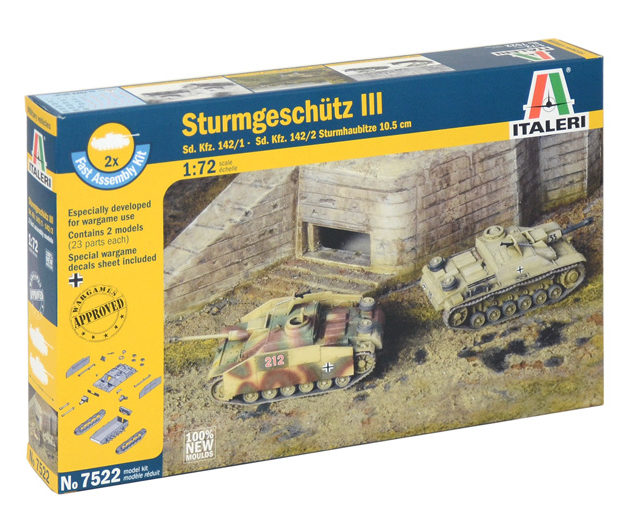 Italeri 7522 SD.KFZ.142/1 STURMGESCH.III Modellismo