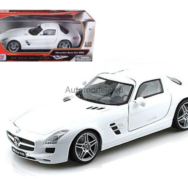 Motormax 79162WH 1:18-Mercedes Benz SLS AMG