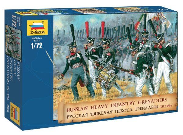 ZVEZDA 8020 Russian Heavy Infantry Grenadiers 1812-1814