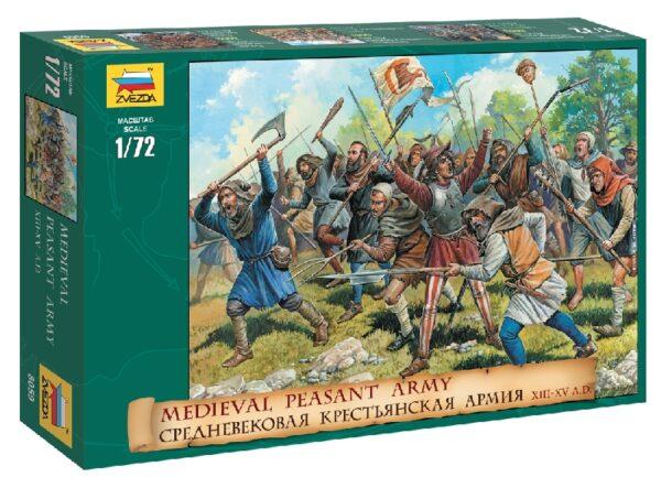 ZVEZDA 8059 Medieval Peasant Army(Rr)