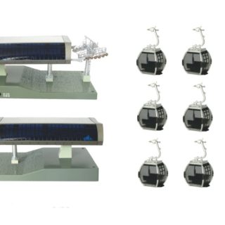Jagendorfer 82495 Ovovia 6 cabine antracite/nero 1:87 Modellismo