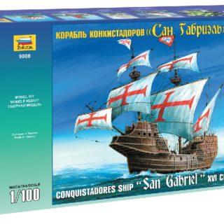 ZVEZDA 9008 Conquistadores Ship Xvi Cent.  Scale  Modellismo