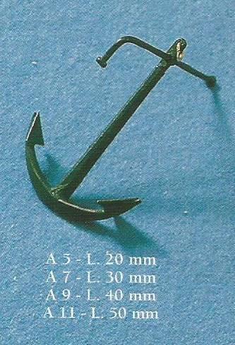 COREL NA005 ANCORA AMMIRAGLIATO 20mm conf.10 pz Modellismo Navale