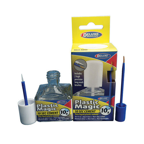 DeLuxe AD83 DELUXE Plastic magic 10 sec cement 40ml Modellismo