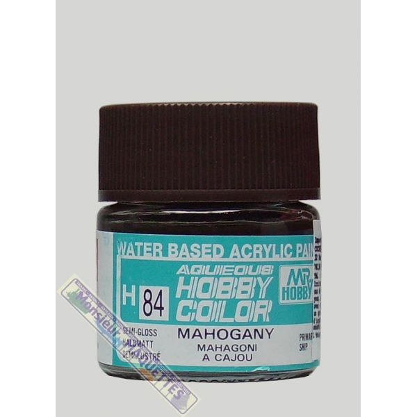 MrHobby GSH084 Barattolino colore acrilico Mogano opaco