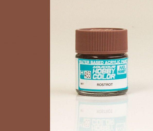 MrHobby GSH453 Barattolino colore acrilico rosso ruggine opaco