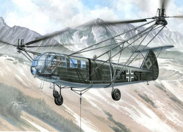 "SpecialHobby SH48020 Focke Angelis FA 223 ""Drache"" Modellismo"