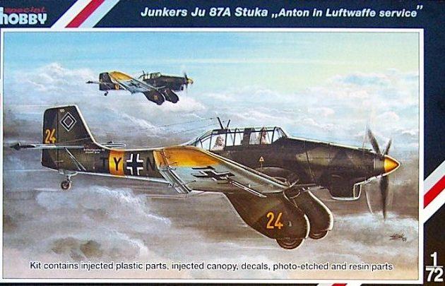 "SpecialHobby SH72136 Junkers Ju 87A ""Anton Luftwa"" Modellismo"
