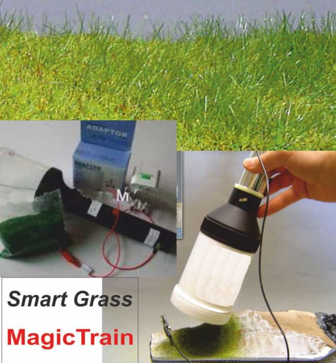 Magic Train SmartGrass Pistola elettrostatica per stendere l'erb Modellismo