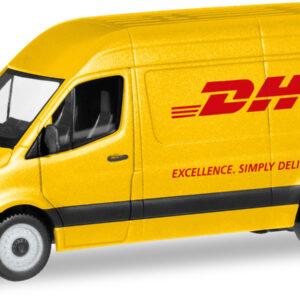 """Herpa 094313 Mercedes Benz Sprinter 18 Kasten""""DHL"""""""