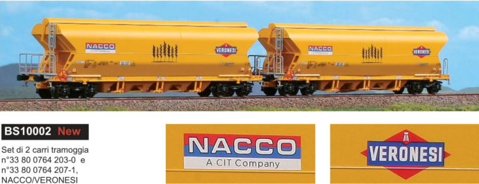 BlackStar 10002 Set 2 carri tramoggia Nacco-Veronesi