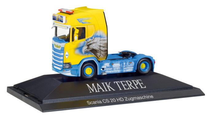 "Herpa 110914 Scania CS 20 motrice ""Maik Terpe"""