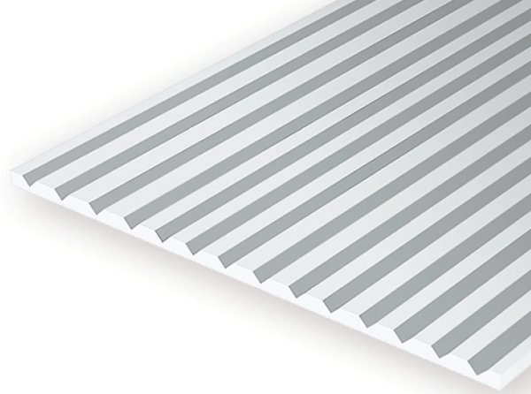 Evergreen 2030 Foglio rigato stirene bianco 15x30cm 0