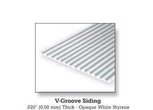 Evergreen 2050 Foglio rigato stirene bianco 15x30cm 0