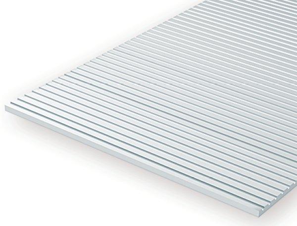 Evergreen 3035 Foglio rigato stirene bianco 15x30cm 0