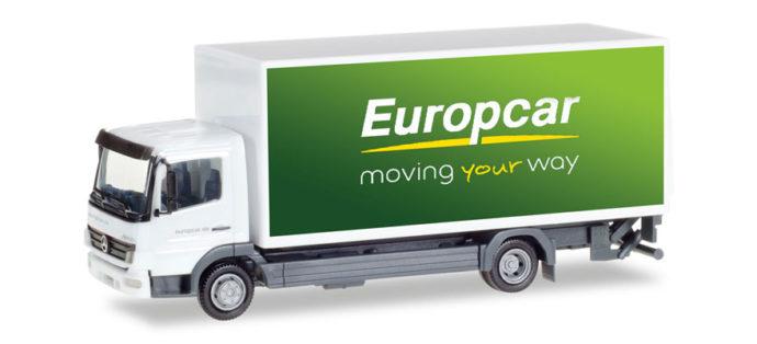 "Herpa 307567 Mercedes Benz Atego koffer-lkw""europcar"""