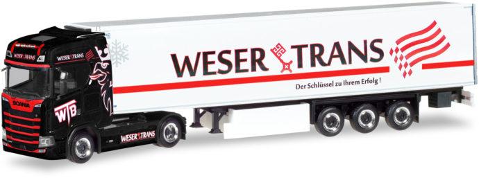 "Herpa 309042 Scania CS HD Cassonato ""Weser-Trans"""