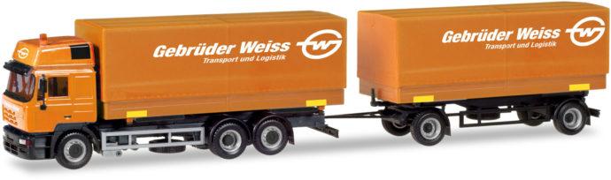 """Herpa 309134 Steyer F 2000 con rimorchio """"Gebruder Weiss"""