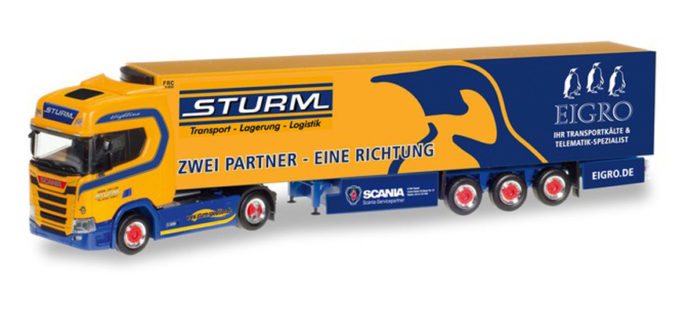 """Herpa 309325 Scania CR HD """"Sturm/Eigro"""""""