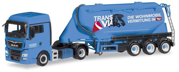 """Herpa 309622 MAN TGX XLX Euro 6c """"Silo Melmer/Trans Via"""