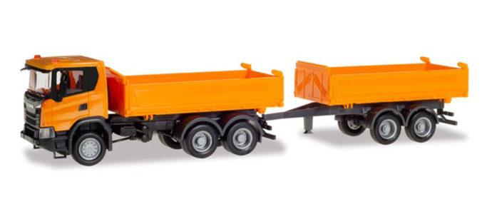 Herpa 309738 Scania CG 17 6x6 con rimorchio comunale