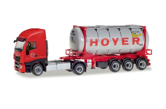 """Herpa 309813 Iveco Stralis XP Container cisterna """"Hoyer"""""""