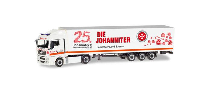 "Herpa 309851 MAN TGX XLX ""Johanniter LV Bayern""25°"