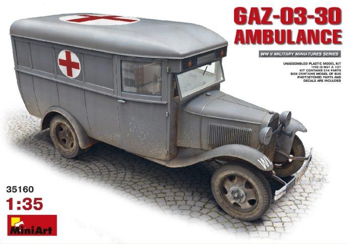 MINIART 35160 GAZ-03-30 AMBULANCE