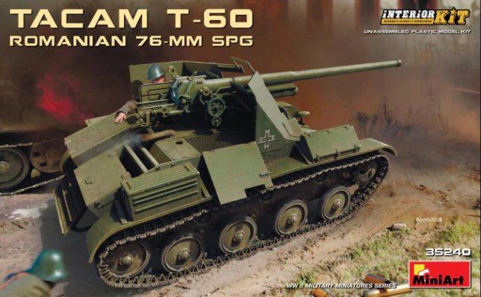 MiniArt 35240 ROMANIAN 76-mm SPG TACAM T-60 INTERIOR KIT