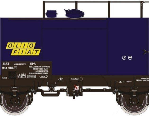 "Esu 36248 Carro cisterna FS 941 986 Deutz ""Olio Fiat"""