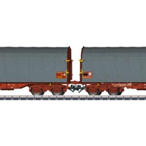 Marklin 47218 Set 2 carri merci telone scorrevole SNCF Shimmns 718