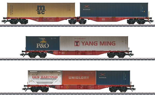 Marklin 47810 Set carri per container DB AG Sggrss 733.2 + 2 x Sgns 691