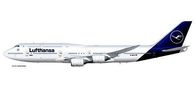 Herpa 531283 Boeing 747-8 Lufthansa Intercontinental
